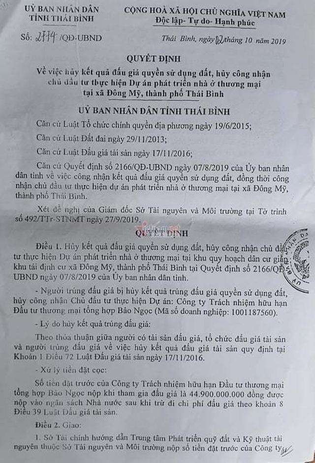 Từ vụ Nguyễn Xuân Đường, lộ lỗ hổng trong đấu giá đất ở Thái Bình - 3