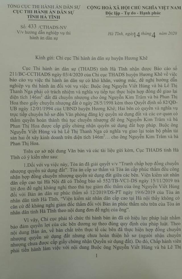 """Chi cục trưởng Chi cục THADS hành dân"""": UBND tỉnh Hà Tĩnh vào cuộc! - 2"""