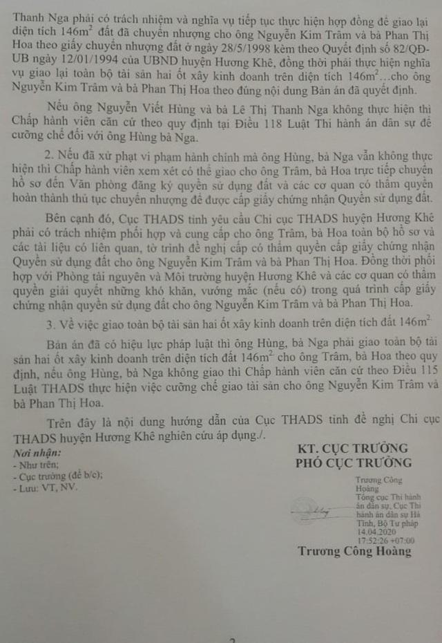 """Chi cục trưởng Chi cục THADS hành dân"""": UBND tỉnh Hà Tĩnh vào cuộc! - 3"""