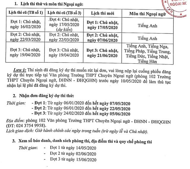 Lịch tuyển sinh lớp 10 của hai trường THPT thuộc ĐH Quốc gia Hà Nội - 2