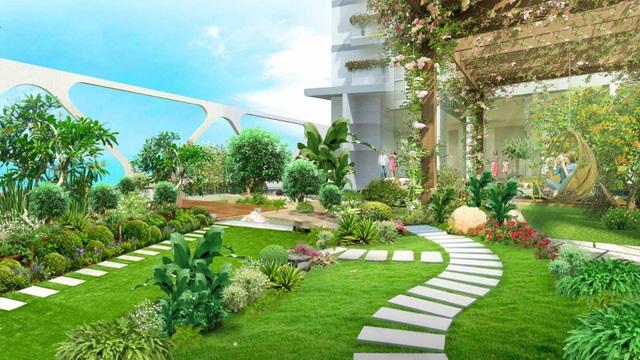Cận cảnh bể bơi giữa lưng chừng trời của  toà tháp sinh đôi đẳng cấp nhất Ecopark - 7