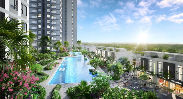Cận cảnh bể bơi giữa lưng chừng trời của  toà tháp sinh đôi đẳng cấp nhất Ecopark - 8