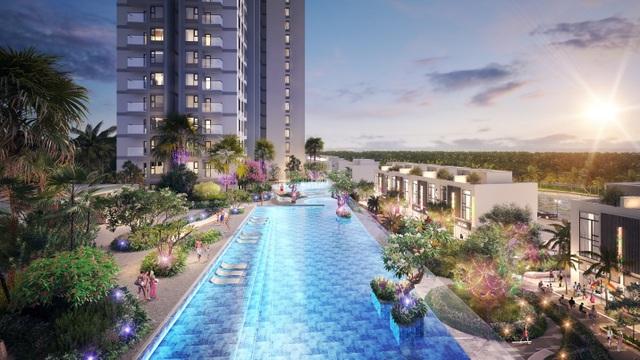 Cận cảnh bể bơi giữa lưng chừng trời của  toà tháp sinh đôi đẳng cấp nhất Ecopark - 9