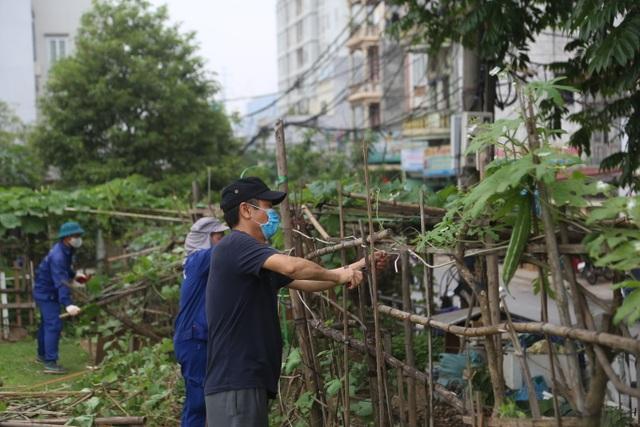 """Hà Nội: Dọn """"rác"""" gần cây cầu dây văng lớn thứ hai Việt Nam - 2"""