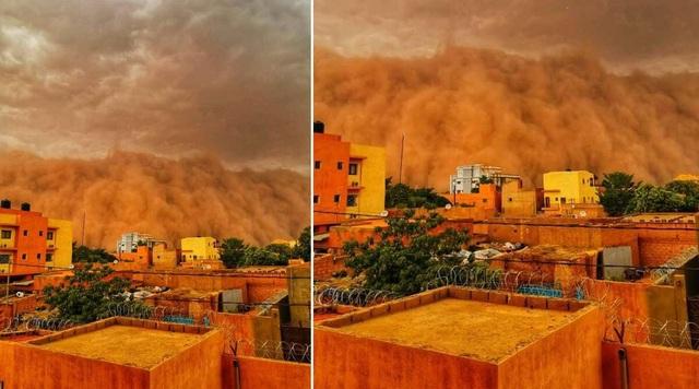 Bão cát kinh hoàng như bức tường thành khổng lồ nuốt chửng thành phố - 3