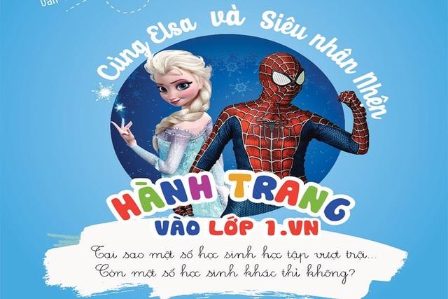 """""""Hành trang vào lớp 1.Vn"""" - Khóa học online dành cho học sinh Tiền Tiểu học - 1"""
