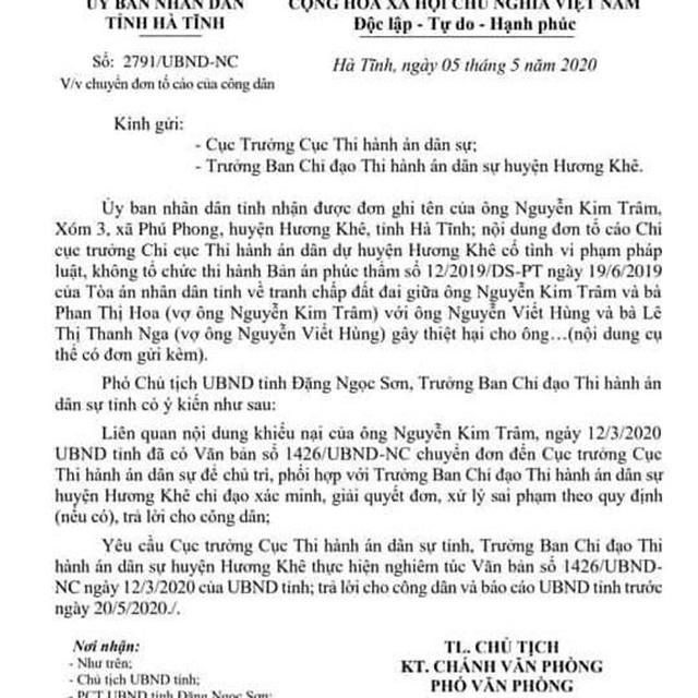 """Chi cục trưởng Chi cục THADS hành dân"""": UBND tỉnh Hà Tĩnh vào cuộc! - 4"""
