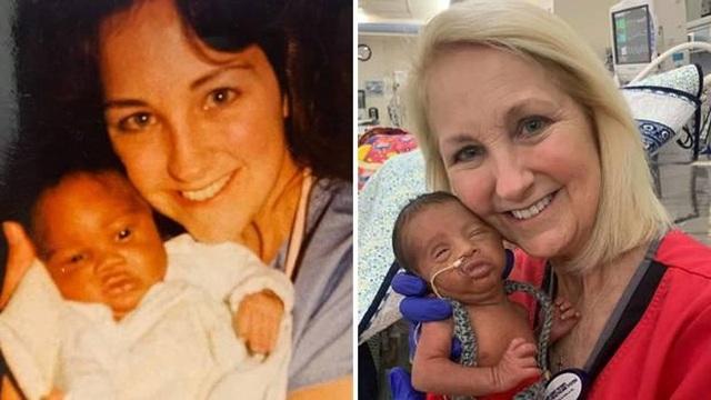 Hy hữu y tá chăm sóc cả cha và con chào đời cách nhau 30 năm - 1