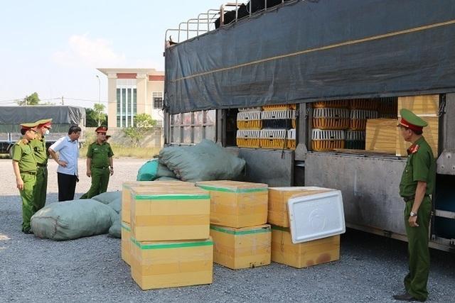 Quảng Bình bắt giữ một xe tải chở hơn 7 tạ thịt chó, mèo bốc mùi hôi thối - 1