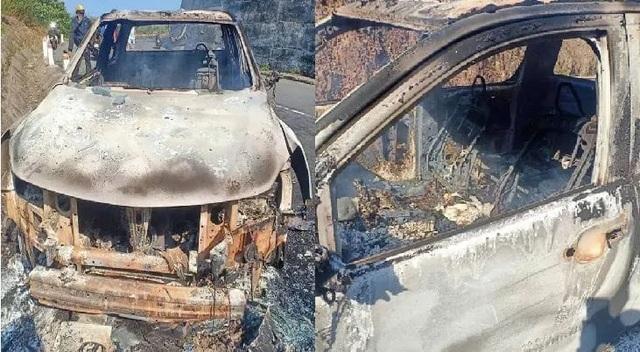 Chiếc xe bán tải của Bí thư xã cháy rụi là hiện trường giả vụ giết người - 1