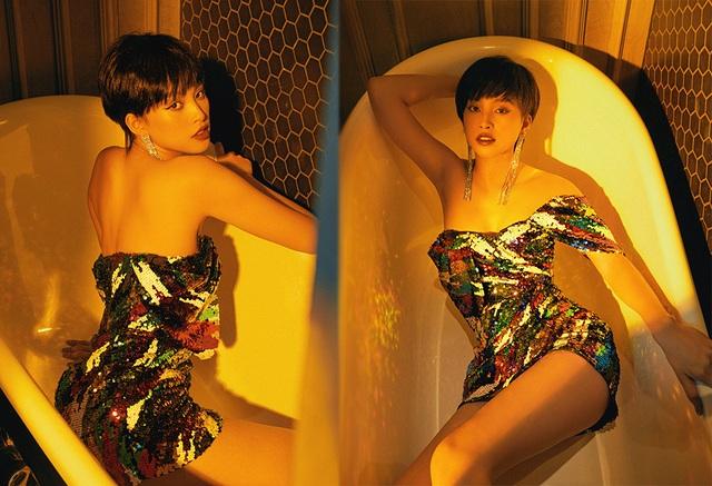 Hoa hậu Trần Tiểu Vy khác lạ với tóc ngắn cá tính - 7