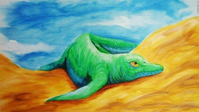 Phát hiện hóa thạch loài thằn lằn cá nhỏ nhất trong lịch sử - 1