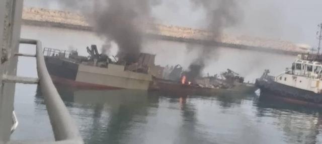 Video vụ tàu chiến Iran bắn nhầm tên lửa vào đồng đội khiến 19 người chết - 1