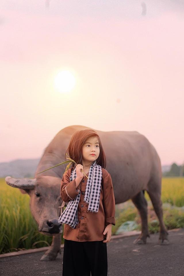 Bé gái xinh như thiên thần trên cánh đồng mùa lúa trổ bông - 5