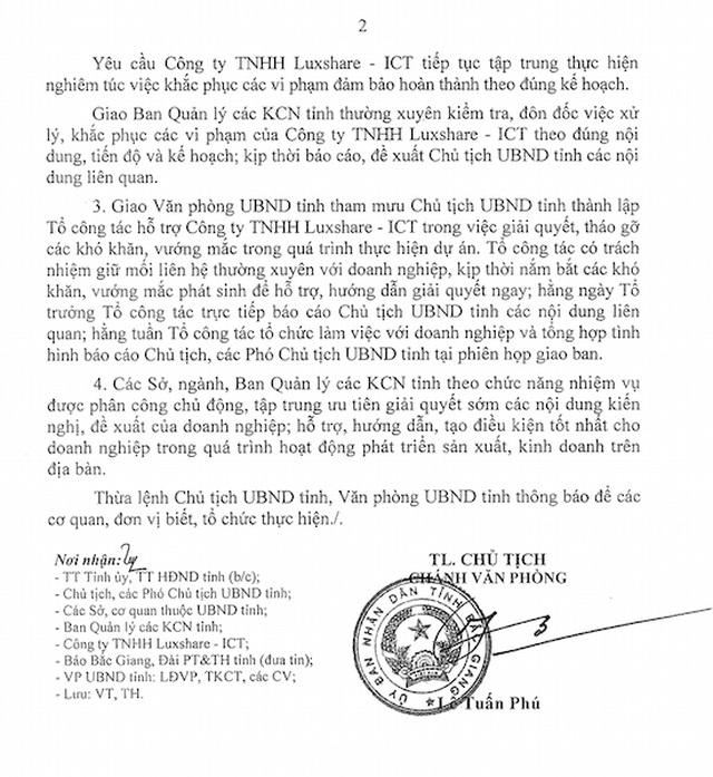 """Bắc Giang xử lý """"thấu tình đạt lý"""", doanh nghiệp Trung Quốc xin sửa sai! - 3"""