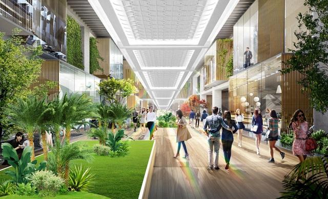 Triển khai tuyến phố đi bộ như trong sân bay Changi giữa lòng tòa tháp cao cấp nhất  Ecopark - 2