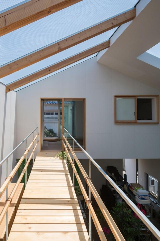 Ngôi nhà bên ngoài đơn giản, bên trong ẩn chứa cả vườn cây xanh mát - 5