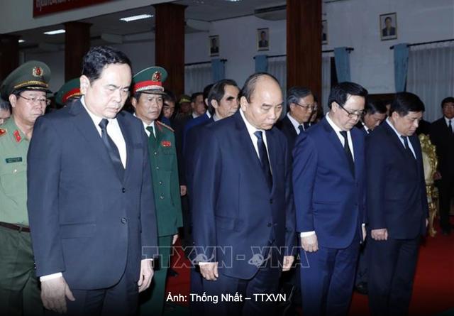 Thủ tướng Nguyễn Xuân Phúcdự Quốc tang Đại tướng Lào Sisavath Keobounphanh - 1