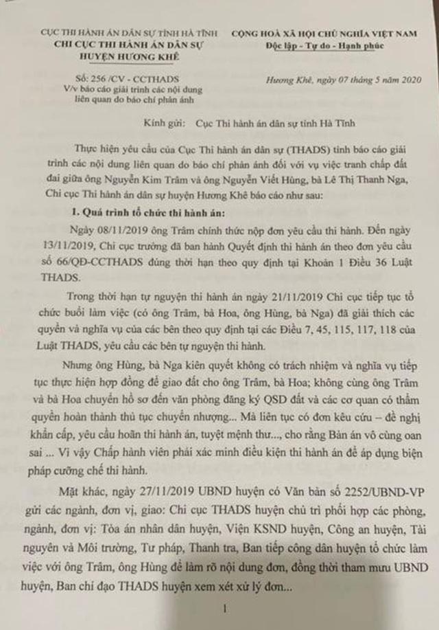 Cục THADS tỉnh Hà Tĩnh đau đầu vì cấp dưới bất tuân chỉ đạo, lạm quyền - 3