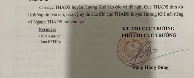 Cục THADS tỉnh Hà Tĩnh đau đầu vì cấp dưới bất tuân chỉ đạo, lạm quyền - 4