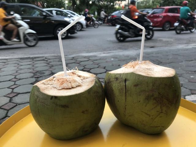 Nắng nóng 40 độ, chị gái chặt dừa mỏi tay, bán 500 quả mỗi ngày - 3