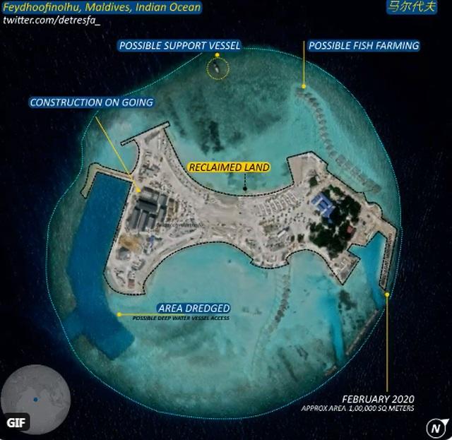 Ấn Độ lo Trung Quốc đang xây đảo nhân tạo ở Ấn Độ Dương - 2