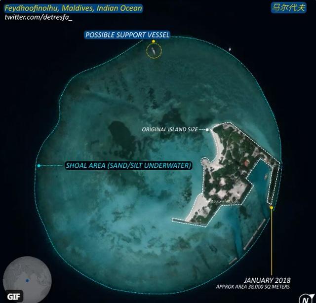 Ấn Độ lo Trung Quốc đang xây đảo nhân tạo ở Ấn Độ Dương - 1