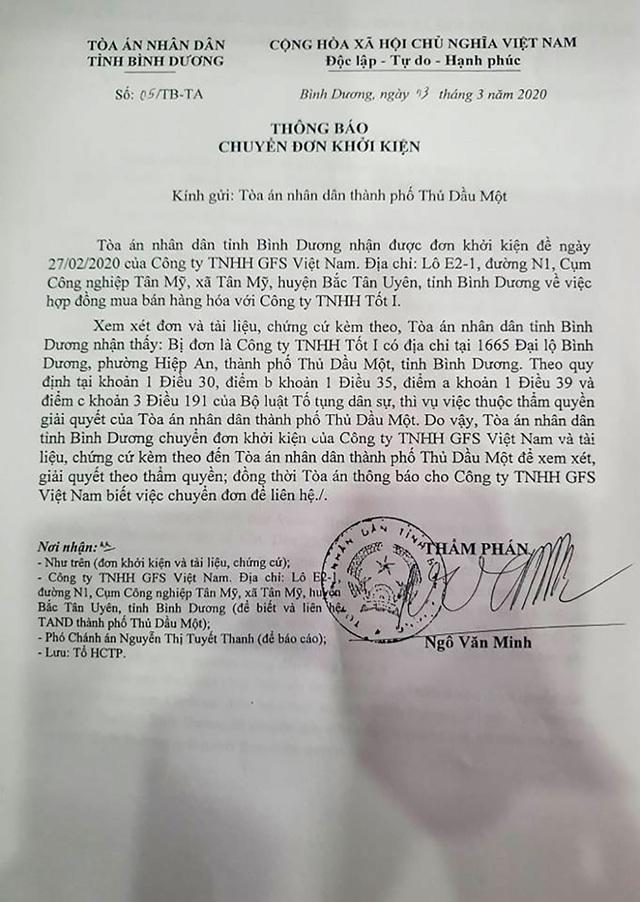"""Bình Dương: """"Chóng mặt"""" vì tòa liên tiếp chuyển đơn khởi kiện - 1"""
