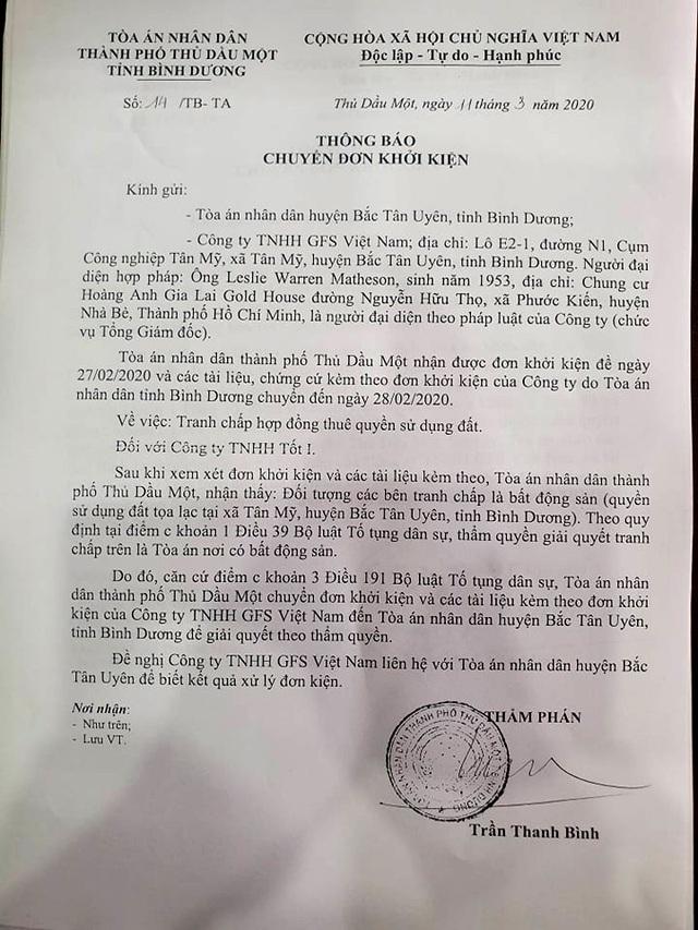 """Bình Dương: """"Chóng mặt"""" vì tòa liên tiếp chuyển đơn khởi kiện - 2"""