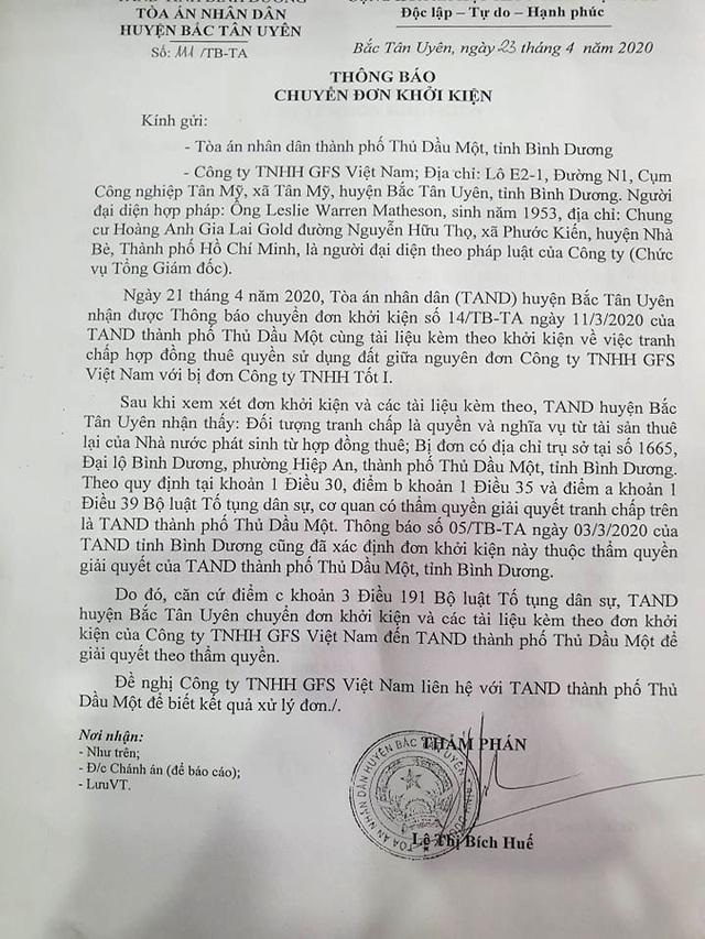 """Bình Dương: """"Chóng mặt"""" vì tòa liên tiếp chuyển đơn khởi kiện - 3"""