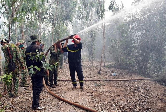 2 ngày vất vả dập đám cháy rừng ở Kiên Giang - 2