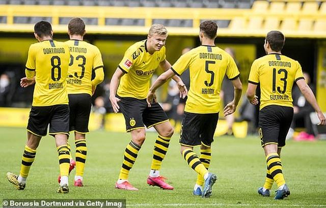 Những khoảnh khắc tỏa sáng của Haaland giúp Dortmund thắng đậm Schalke - 4
