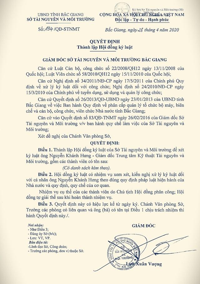 Một hội đồng kỷ luật xử lý cán bộ rất… hài hước tại Sở Tài nguyên Bắc Giang - 2