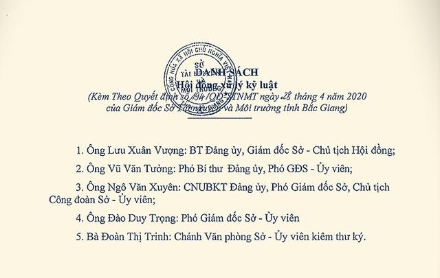 Một hội đồng kỷ luật xử lý cán bộ rất… hài hước tại Sở Tài nguyên Bắc Giang - 3