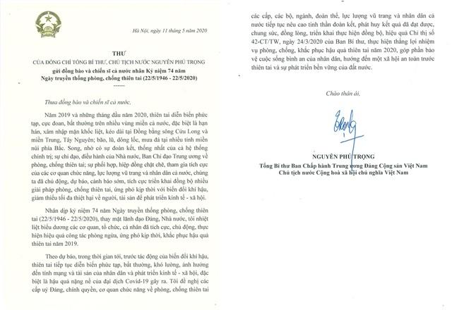 Tổng Bí thư, Chủ tịch nước biểu dương lực lượng phòng, chống thiên tai - 1