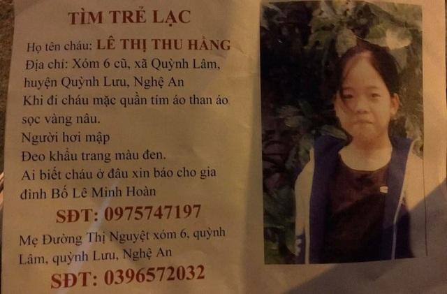 Thiếu nữ Nghệ An mất tích được chủ quán ăn ở Hà Nội cưu mang - 1