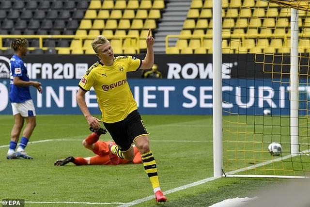 Những khoảnh khắc tỏa sáng của Haaland giúp Dortmund thắng đậm Schalke - 2