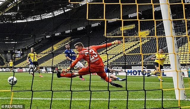 Những khoảnh khắc tỏa sáng của Haaland giúp Dortmund thắng đậm Schalke - 6