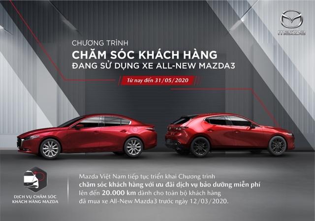 Tặng gói bảo dưỡng miễn phí cho khách hàng sở hữu xe All-New Mazda3 - 2