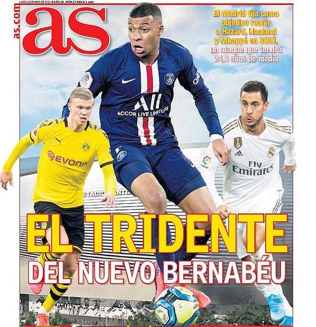 HLV Zidane mơ về bộ ba tấn công Hazard-Haaland-Mbappe ở Real Madrid - 1