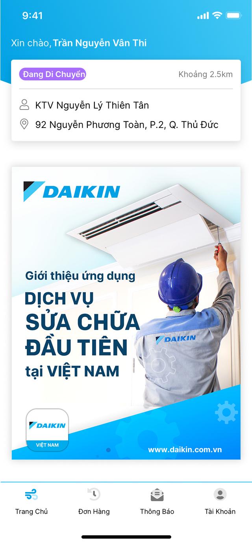 Daikin Việt Nam tiên phong giới thiệu ứng dụng đặt dịch vụ sửa chữa máy lạnh - 1