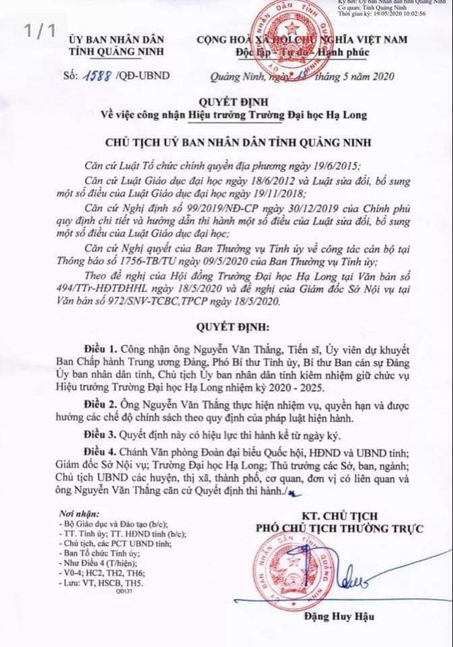 Quảng Ninh: Lần đầu tiên Chủ tịch tỉnh kiêm nhiệm Hiệu trưởng trường ĐH - 1