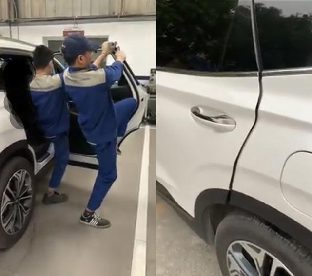 Hải Phòng: Khách hàng bức xúc vì Hyundai SantaFe có tiếng kêu lạ ở cánh cửa - 1