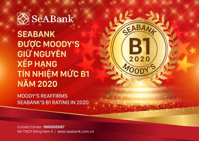 SeABank được Moodys giữ nguyên xếp hạng tín nhiệm B1 - 1
