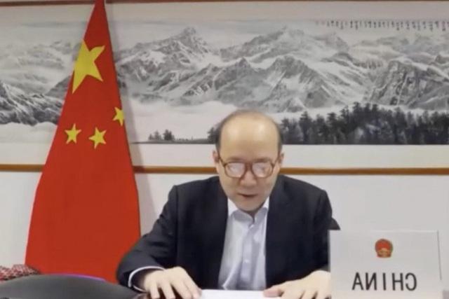 Đại sứ Trung Quốc đặt ngược biển tên tại Đại hội đồng Y tế Thế giới - 1