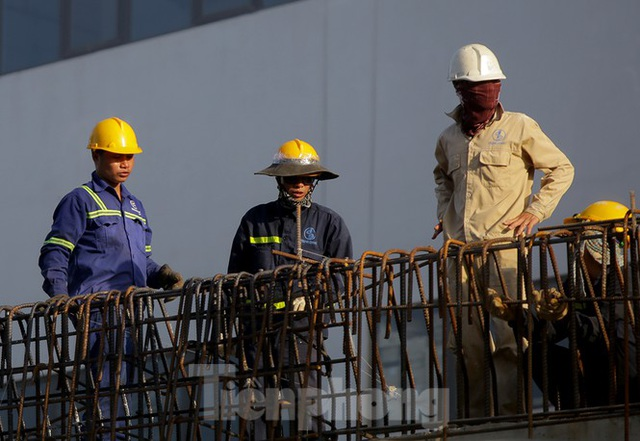 Công nhân phơi mình dưới trời nắng đổ lửa ở Hà Nội - 4