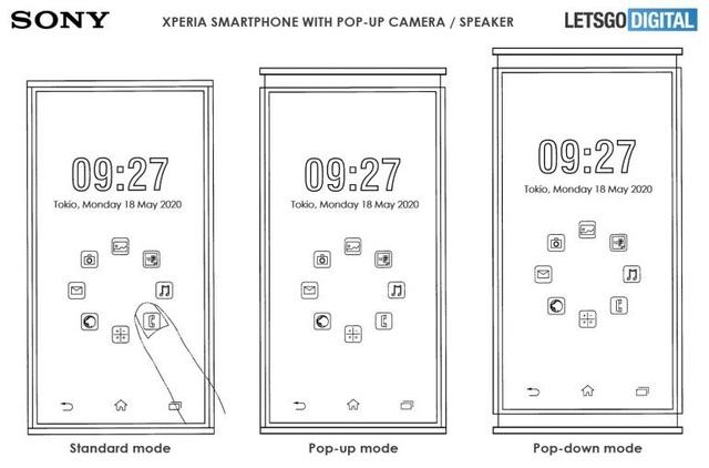 """Lộ smartphone mới của Sony với kiểu thiết kế loa dạng """"thò thụt"""" độc đáo - 1"""