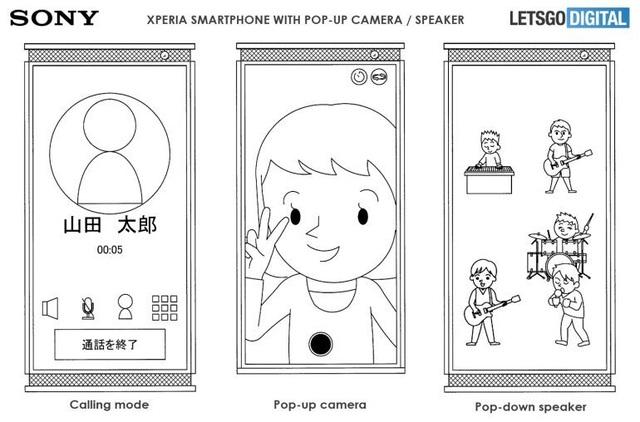 """Lộ smartphone mới của Sony với kiểu thiết kế loa dạng """"thò thụt"""" độc đáo - 2"""
