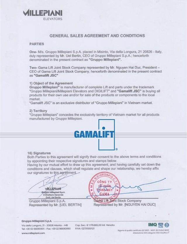 GamaLift ký kết hợp tác với tập đoàn Millepiani (Italia) - 1