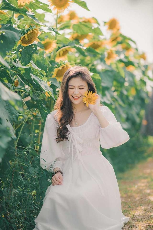 Cựu nữ sinh Ngoại thương khoe sắc bên hoa hướng dương - 8